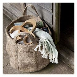 Braided Hemp Storage Basket #PintoWin #ConnectedGoods
