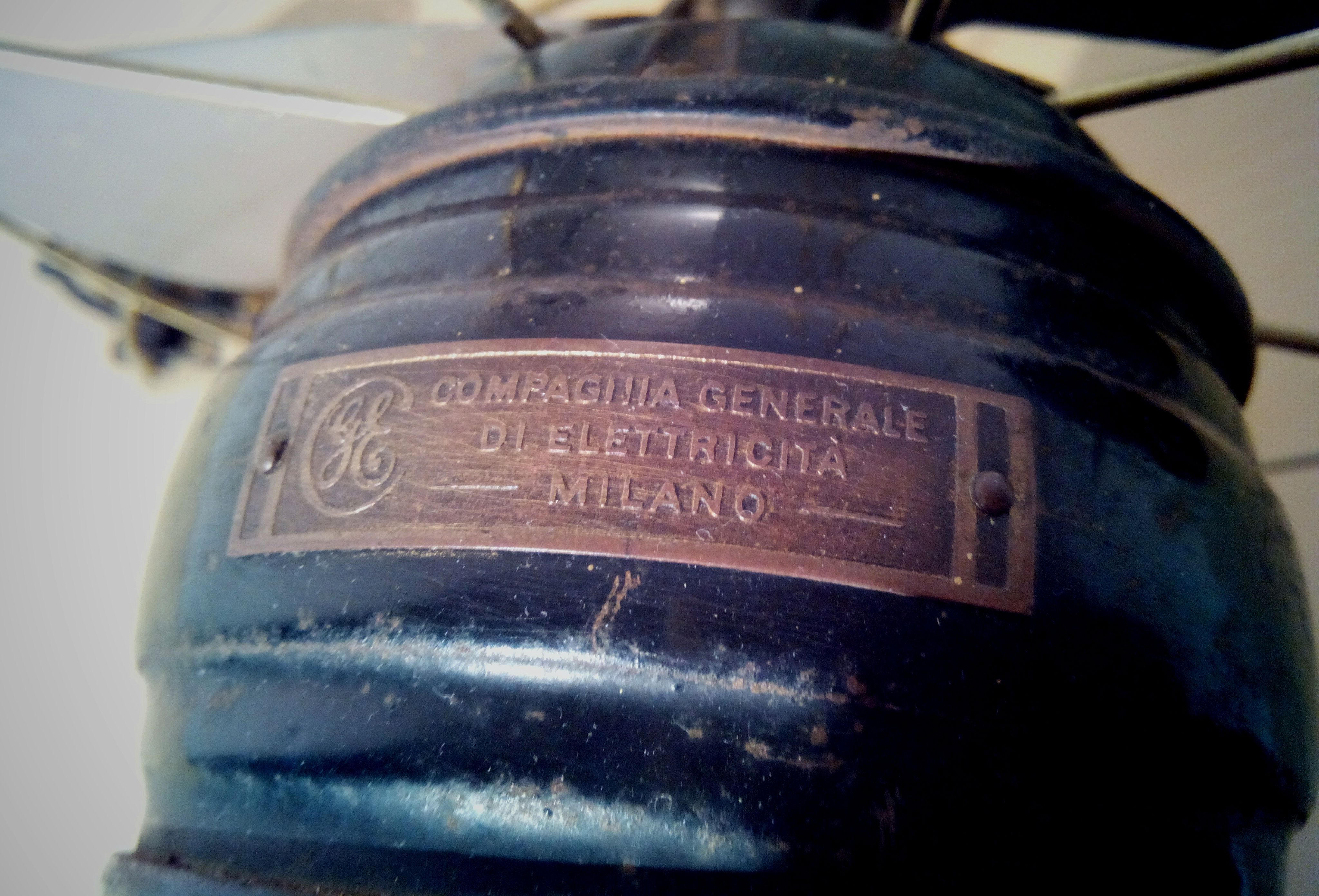 Antico ventilatore COMPAGNIA DI ELETTRICIT° Milano; 1930s