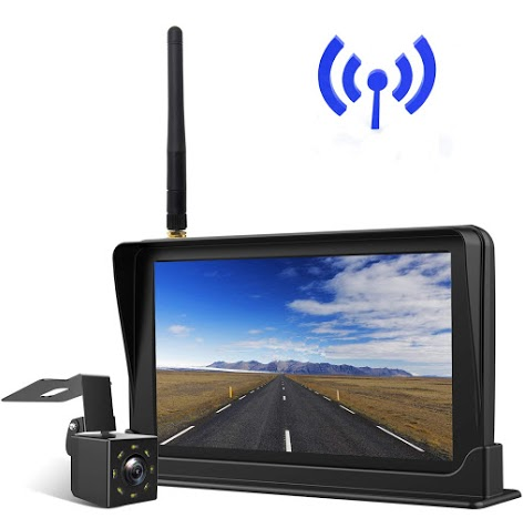 """REAR VIEW BACKUP CAMERA CAB OBSERVATION SYSTEM 7/"""" WIRED MONITOR+2PCS HD CAMERAS"""