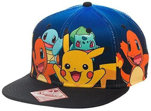 be26f958f Pokemon Group Gradient Snapback Hat Size ONE SIZE | Birds | Snapback ...