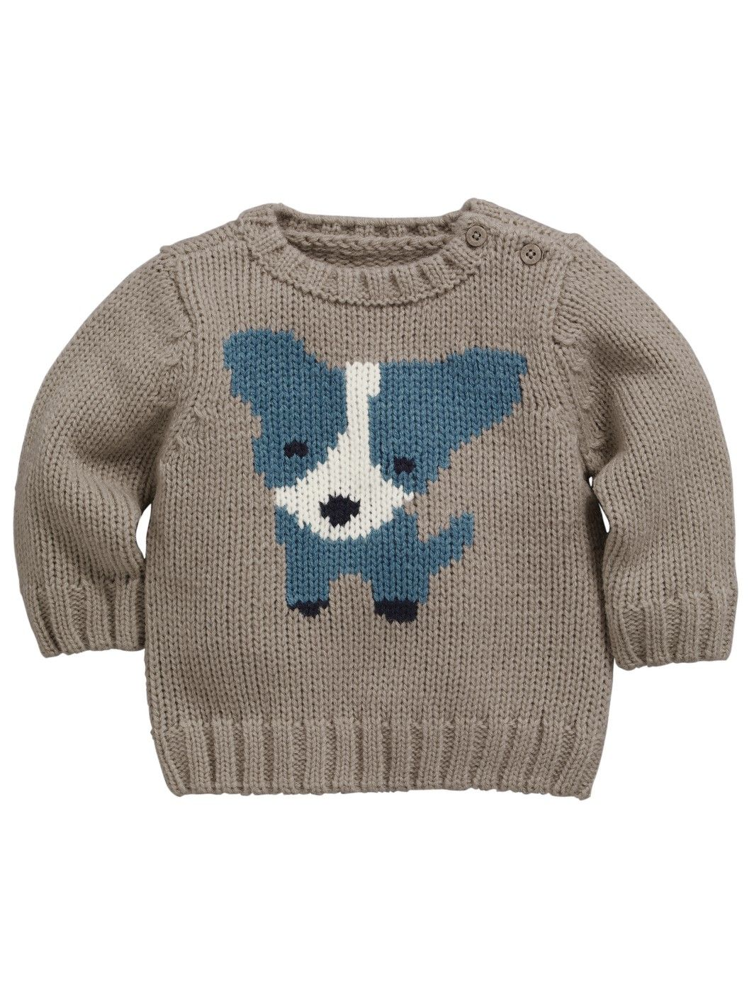 98ad06ccd2875 Ladybird Baby Boys Dog Knitted Jumper
