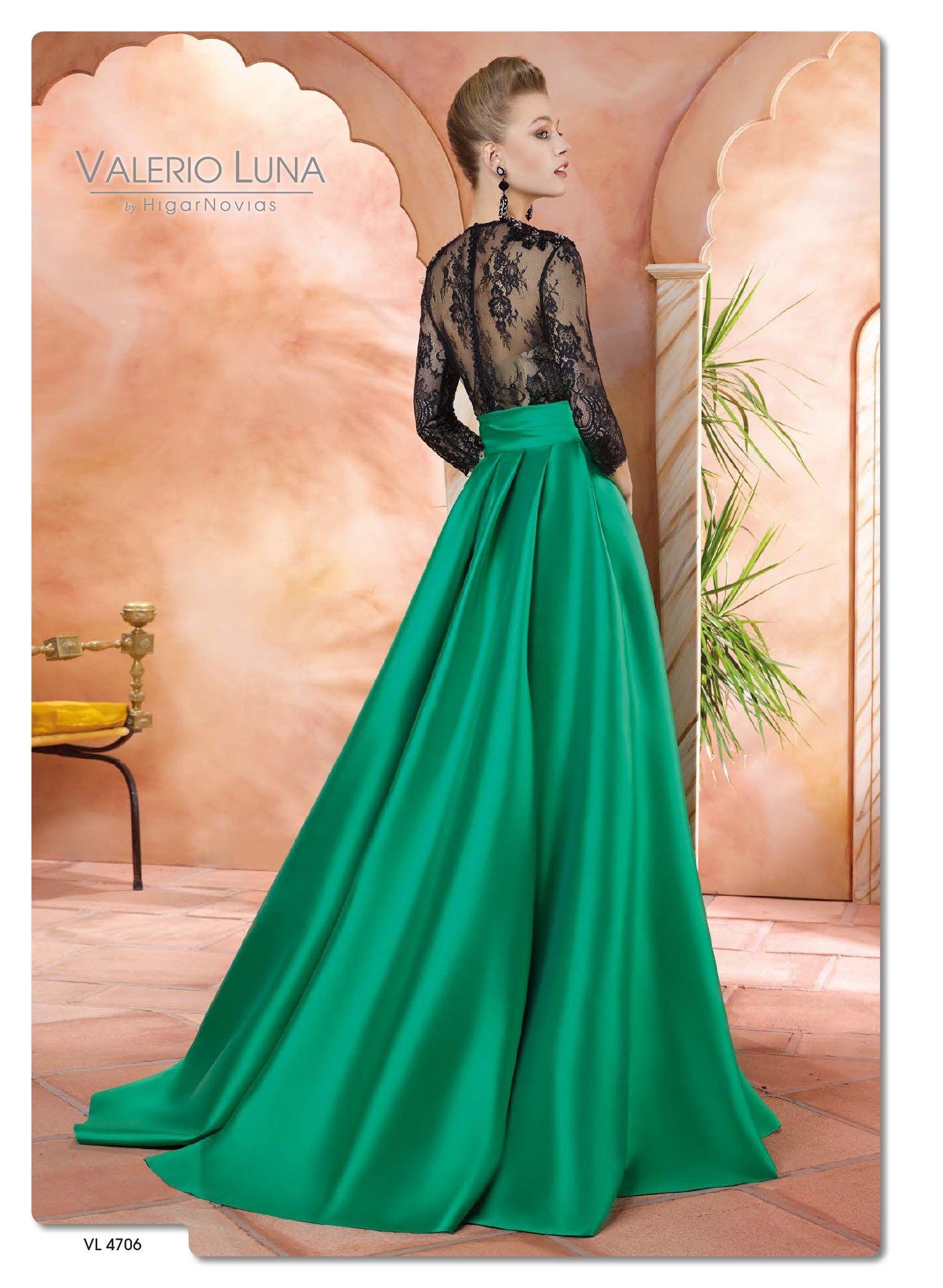 Vestidodefiesta #ValerioLuna #Eventdress #Verde #Negro #Estilo ...