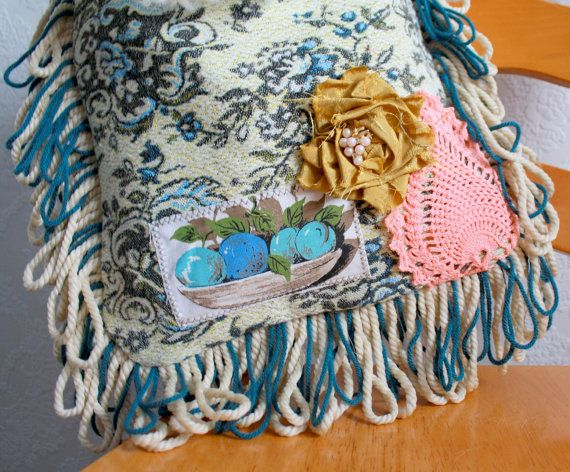 Gypsy Style Bohemian Bag Teal Fringed Purse by BrokenGhostClothing, $84.00