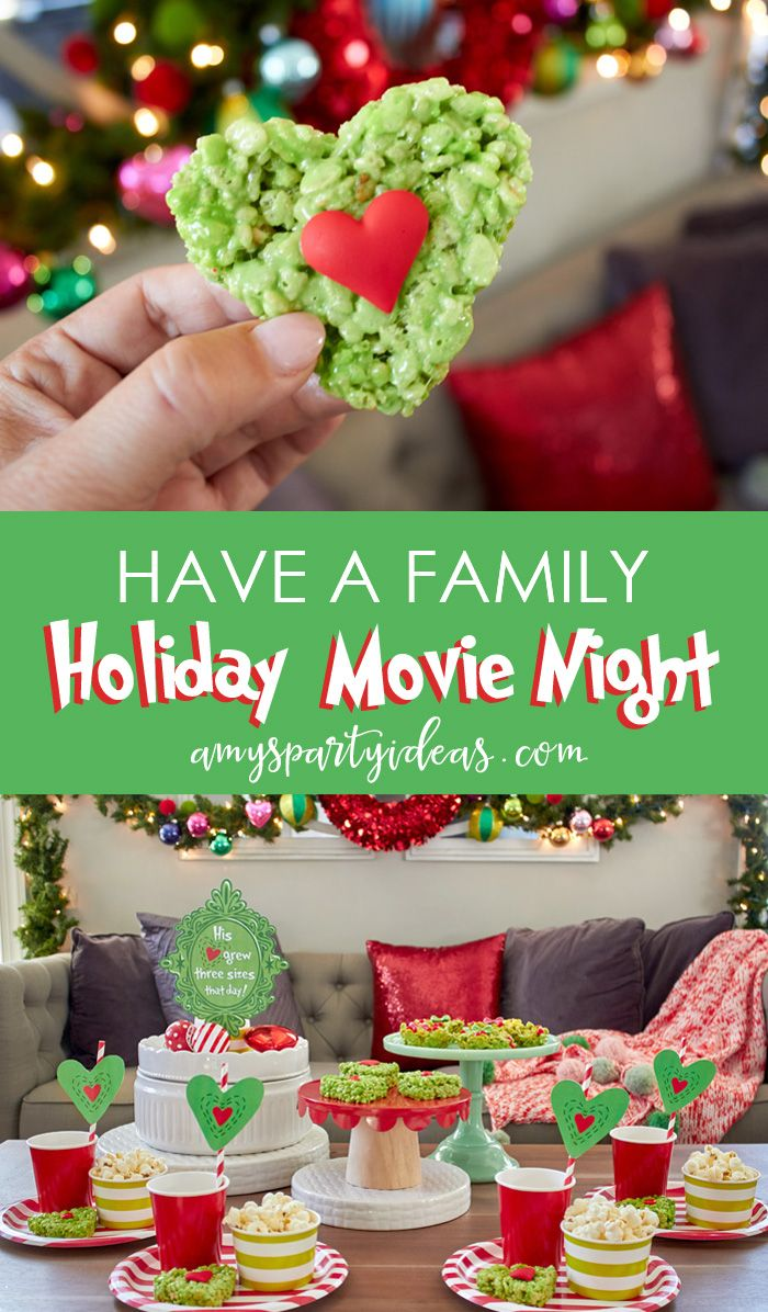 Holiday Family Movie Night Grinch christmas party