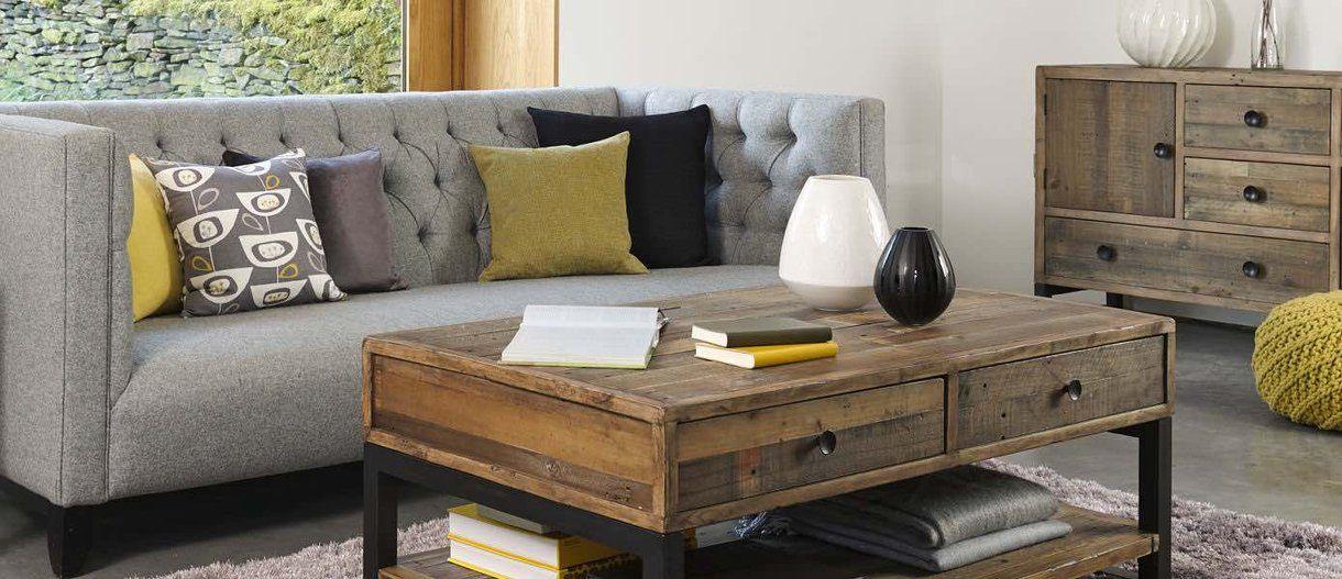 Standford Industrial Reclaimed Wood Medium Sideboard | Modish Living