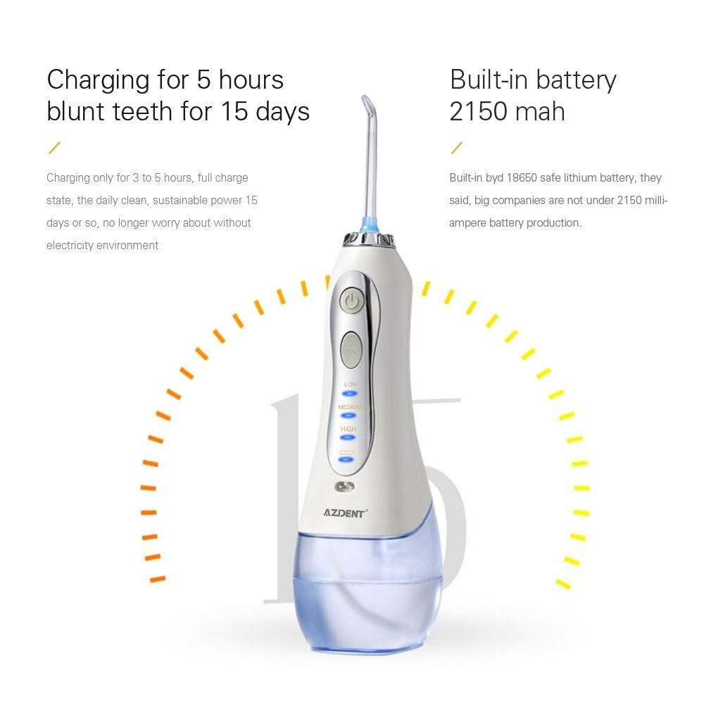 New 3 Modes Cordless Oral Irrigator Portable Water Dental Flosser In 2021 Flosser Dental Water Jet