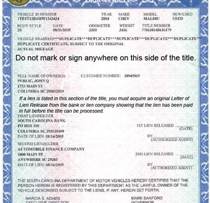 A Complex Notarization For An Ohio Vehicle Title Transferring To