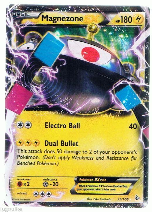 Pokemon Card XY Flashfire Rare Holo Magnezone EX 35/106 ...