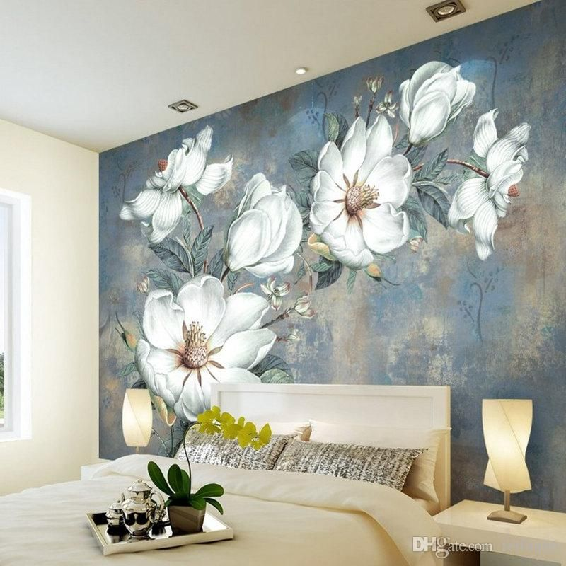 Custom Flowers Wallpaper 3d Retro Rose Murals For The Living Room Bedroom Tv Background Wall Waterproof Papel De Parede From Feifan66 27 14 Dhgate Com Flower Mural Flower Background Wallpaper Room Wallpaper Flower bedroom wallpaper images