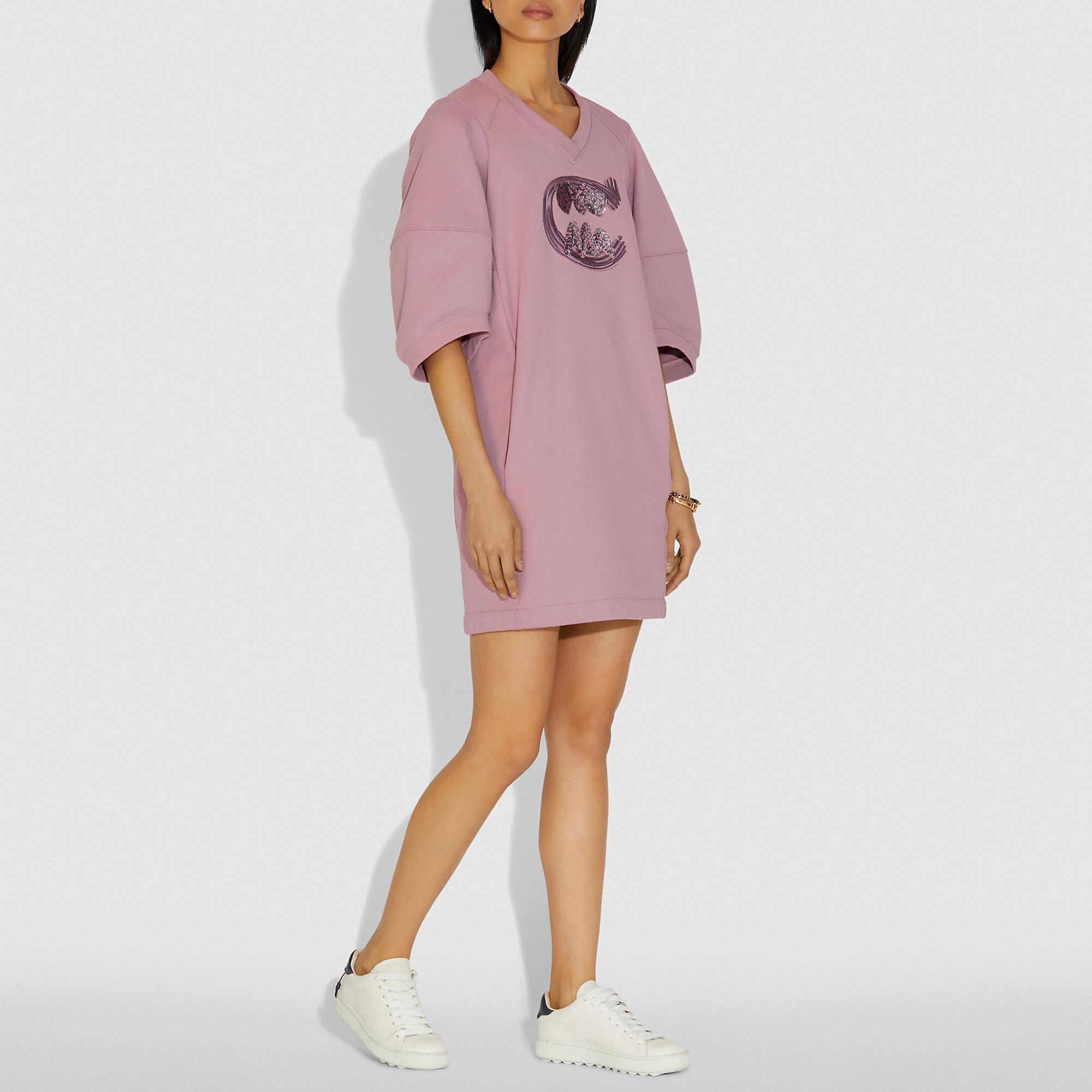 Women S Designer Clothing Sale Coach Sweatshirt Dress Sweatshirt Short Sleeve Designer Outfits Woman