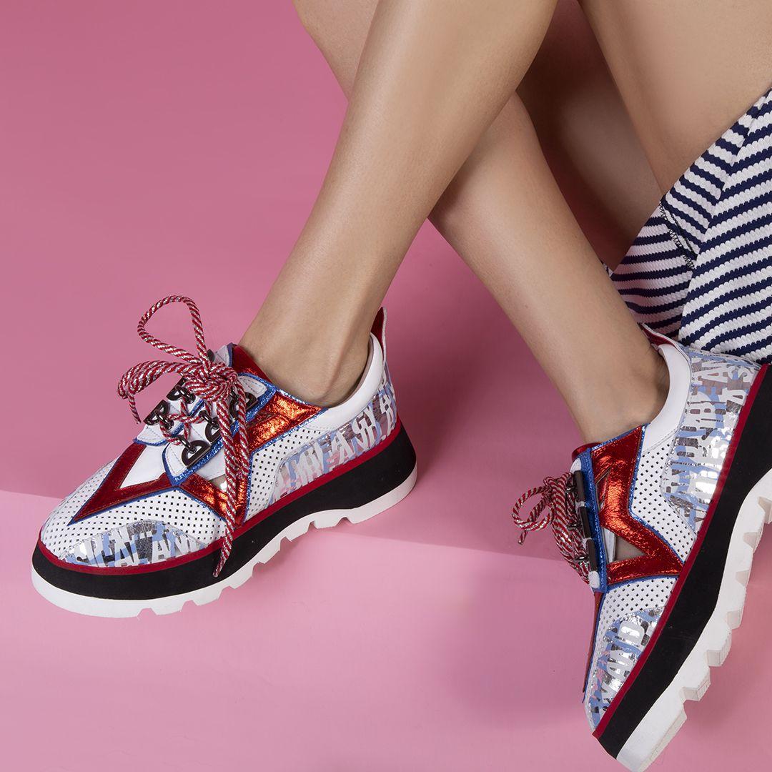 Lony Bayan Spor Ayakkabı Beyaz Mavi