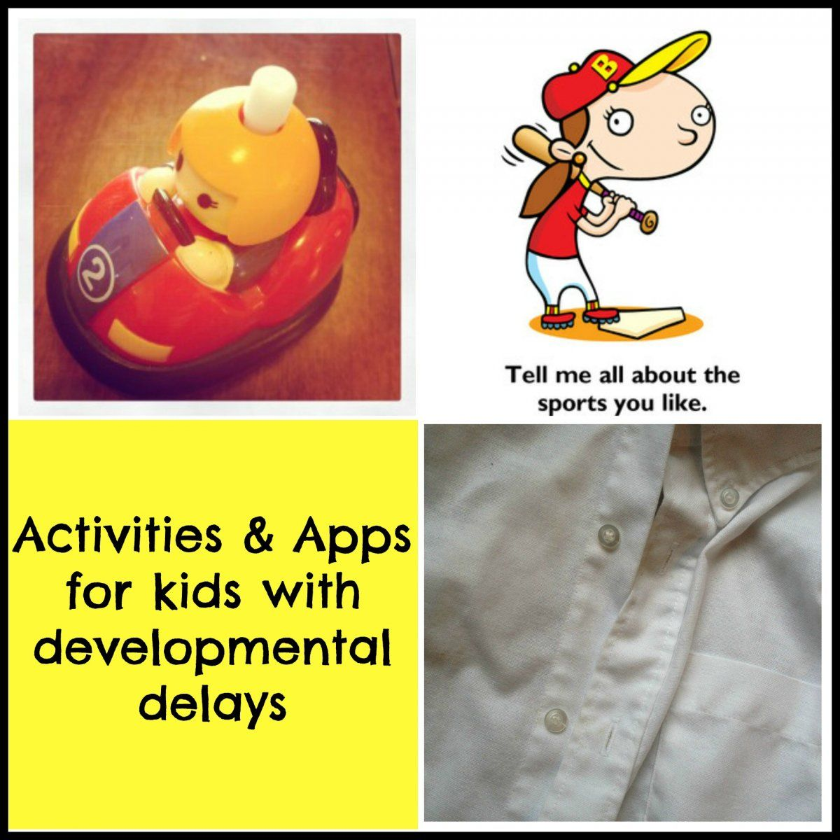 Activities & Apps for kids with developmental delays for