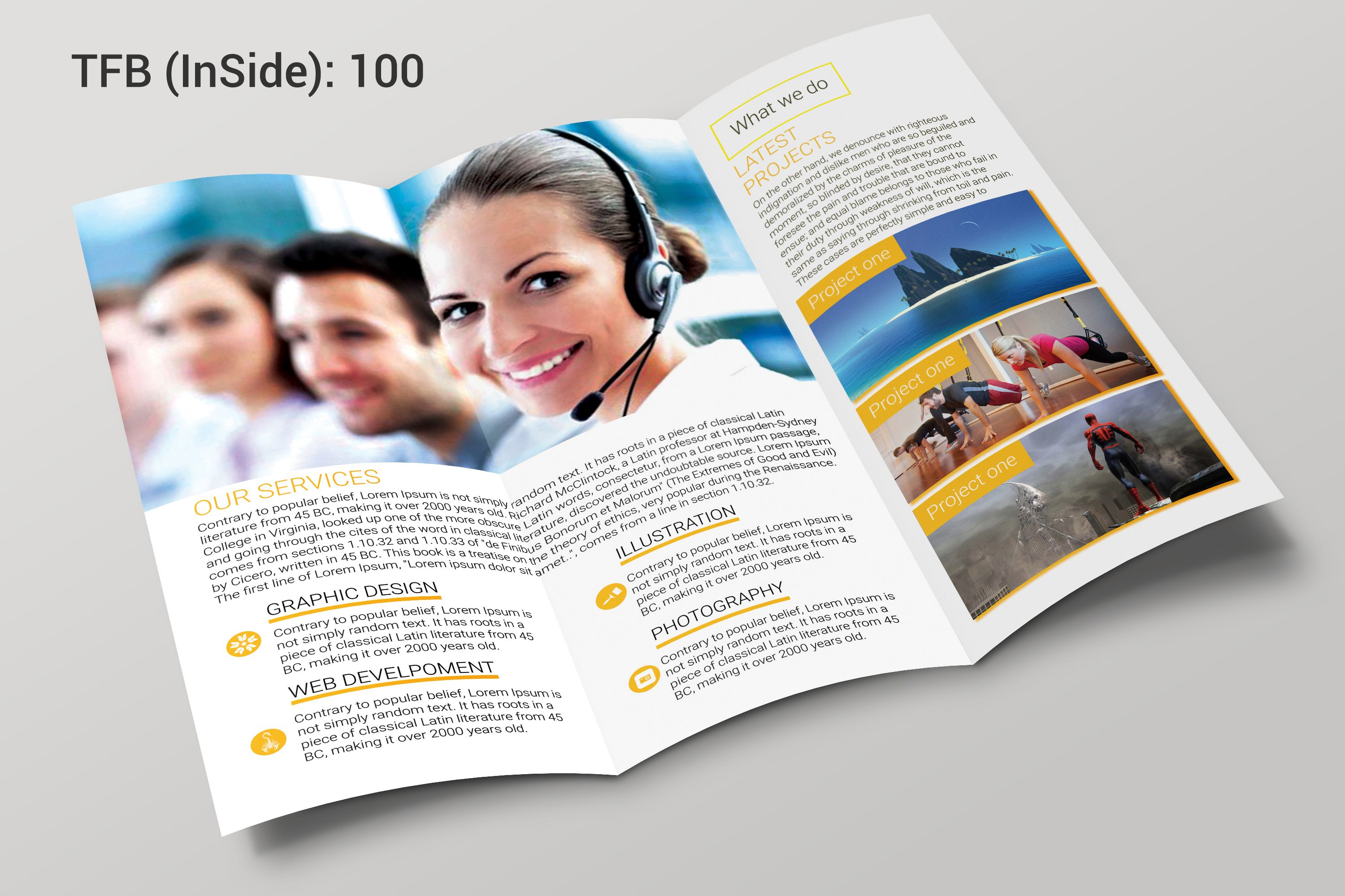 aminulv i will professional bifold brochure trifold brochure