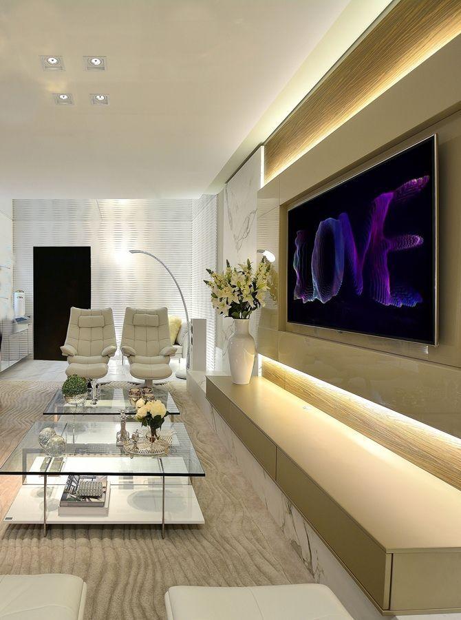 10 Dicas E Idéias De Painel De Tv Para Sala  House  Pinterest Magnificent Modern Decor Living Room 2018