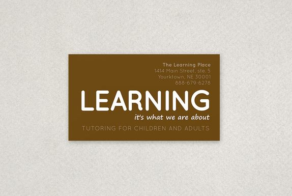 Tutoring Business Card Sample  Products I Love