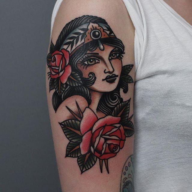 Traditional Tattoo Half Sleeve Flash