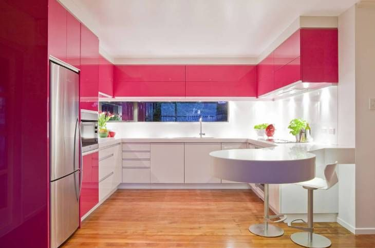 Fuchsia Kitchen, Kitchen Color Ideas For Modern Kitchens