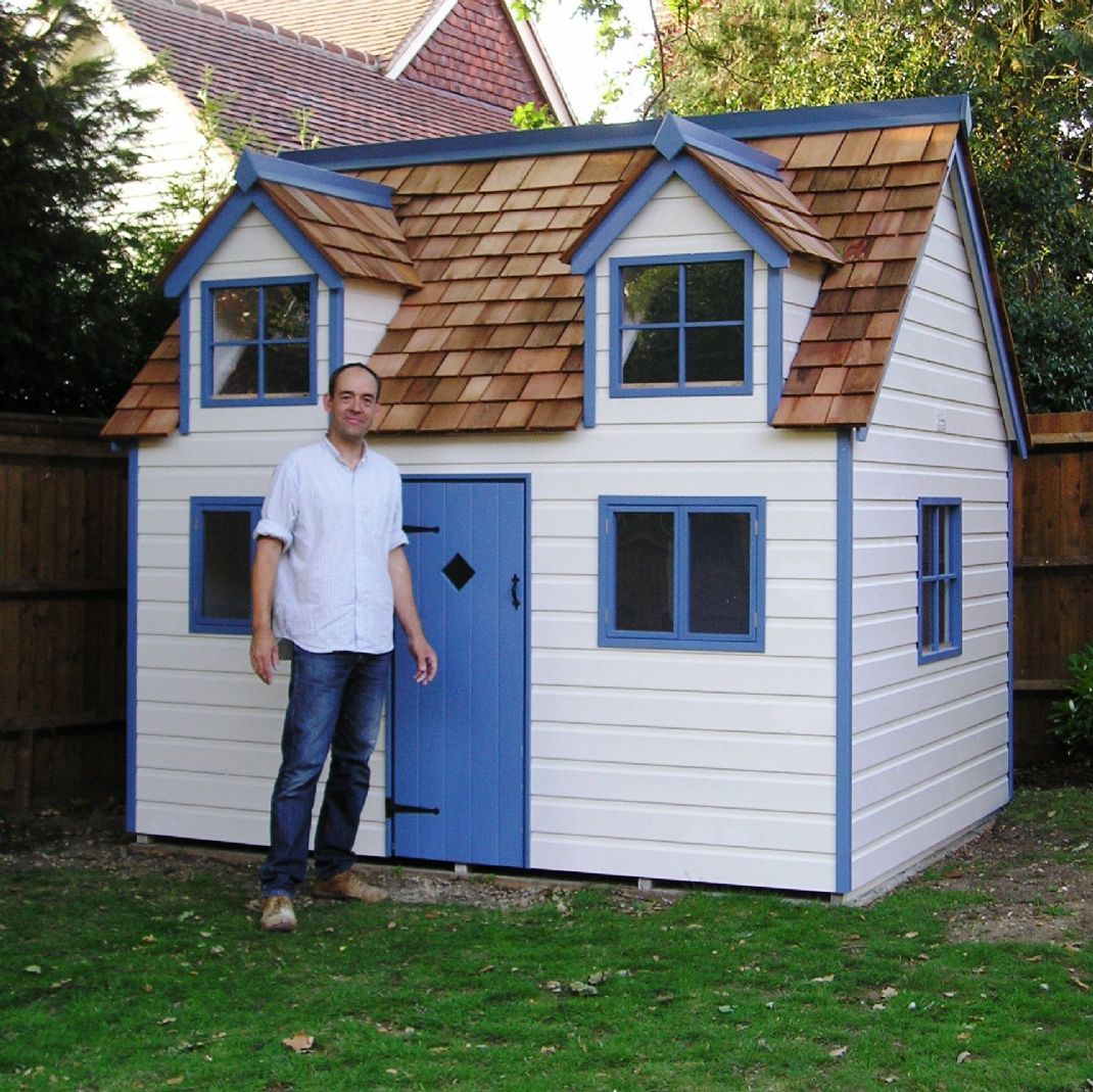 Play houses for kids luxury custom playhouse large for Wooden wendy house ideas