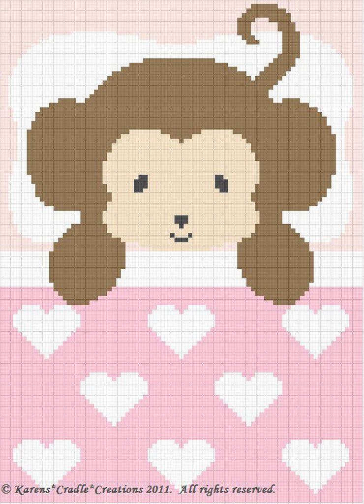 Crochet Patterns-Sweet Dreams Baby Girl Monkey Pattern   Punto de ...