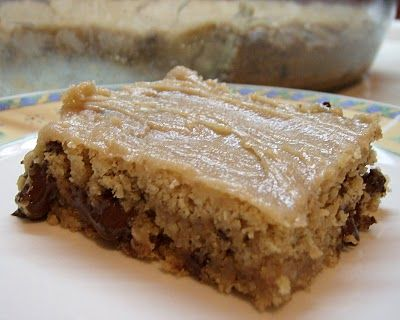 Definitely will be making these!  The Skimpy Pantry: Peanut Butter Cookie Bars with Peanut Butter Glaze