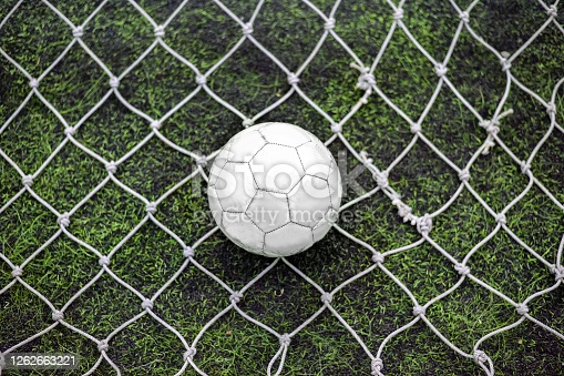Still Football Behind The Goalkeeper Net In Centre Position Goalkeeper Stock Images Free Football