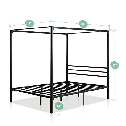 Amazon Com Zinus Metal Framed Canopy Four Poster Platform