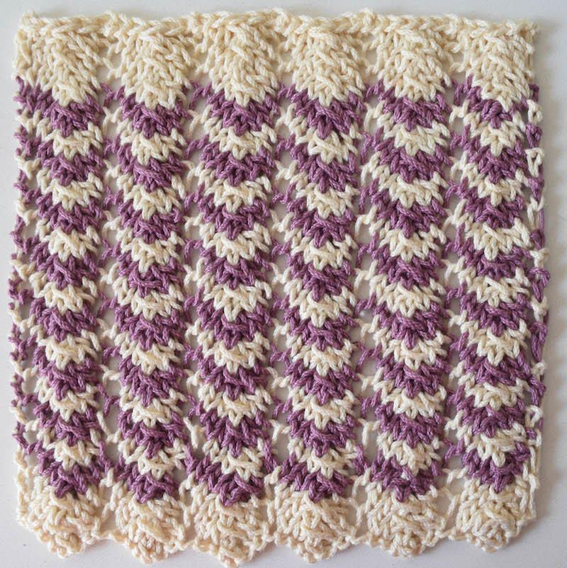 Easy Ripple Washcloth Knitted Washcloths Knit Patterns And Patterns