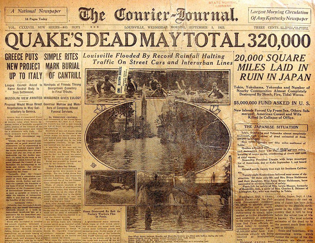 Great Kantu Earthquake The Writing Disorder Louisville My Old Kentucky Home Kentucky