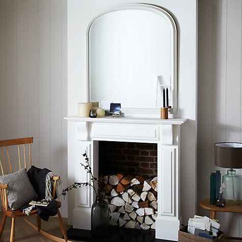 Buy John Lewis Croft Collection Large Overmantle Mirror 120 X 100cm Online At Johnlewis