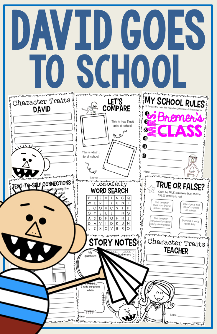 David Goes To School Book Study Guided Reading Beginning Of