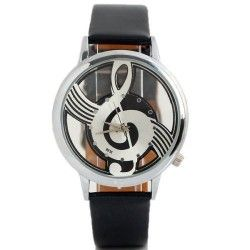 Musical clef, stylish watch. For perfect timing! :)