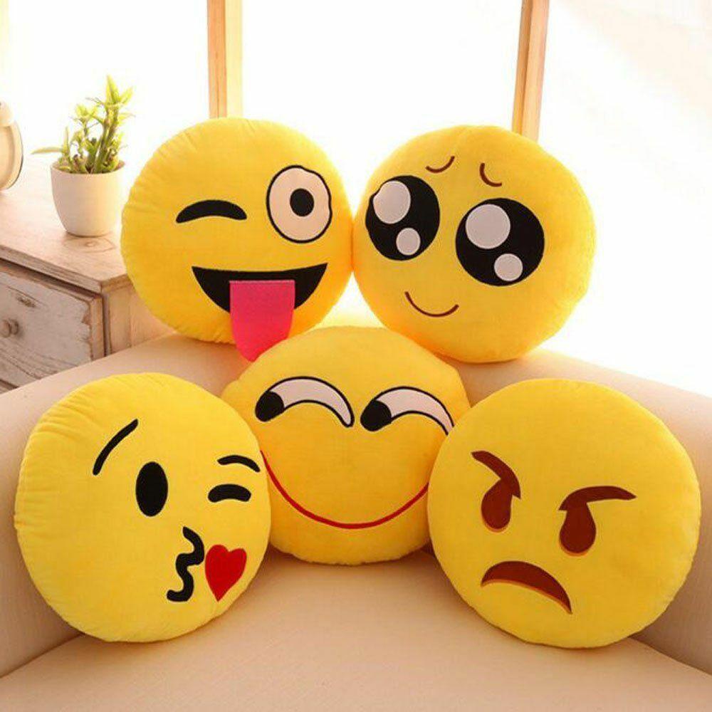 13 Inch Cute Emoji Emoticon Cushion Pillow Round Yellow Stuffed Plush Soft Toys Emoji Ideas Of Emoji Emoji Emojia Emoji Pillows Emoji Cushions Cute Emoji