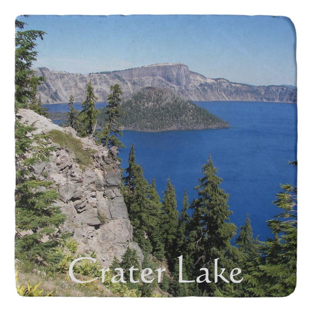 Crater Lake National Park Photo Trivet Zazzle Com National Parks Crater Lake Crater Lake National Park