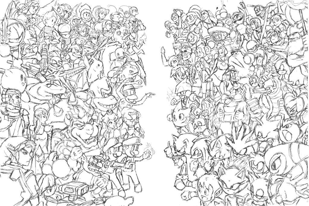 Nintendo VS Sega Nintendo, Coloring pages, Video game art