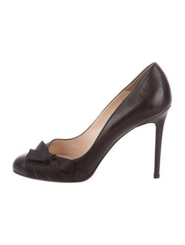 a73731e3051 ... sale christian louboutin satin trimmed bow pumps shoes accessories  pinterest luxury fashion brands christian louboutin and ...