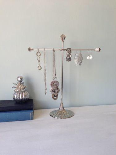 dbf2ad44bfc Lisbeth Dahl Poppy Jewellery Stand - SILVER 37cm necklace storage ...