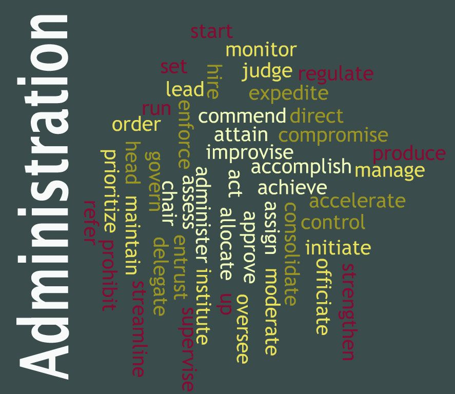 Check out these Power Verbs when writing about administration - resume power verbs