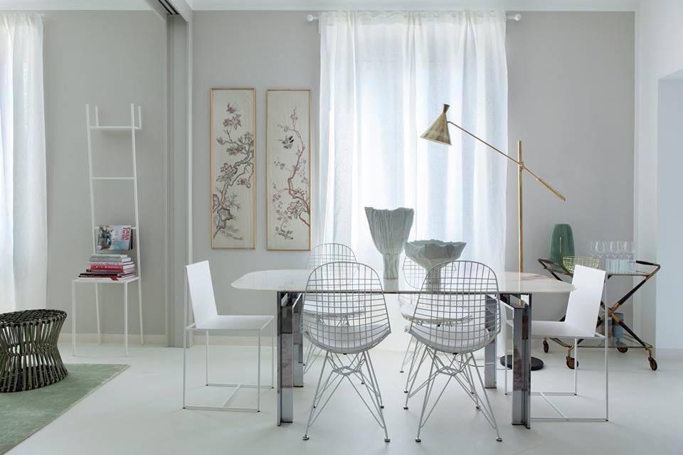 Mobili pranzo ~ Sala da pranzo bianca u c mobili e idee d arredamento