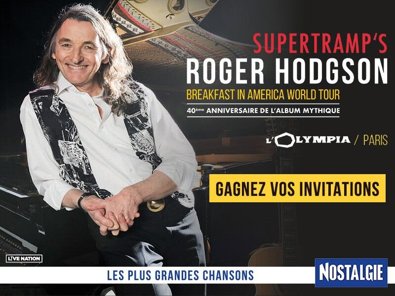 Cadeaux A Gagner 6 Invitations Pour Un Des Concerts De Roger Hodgson En Juin A Paris Concert Nostalgie Invitation
