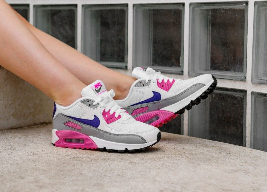 Wmns Air Max 90 Whitecourt Purple wolf Grey