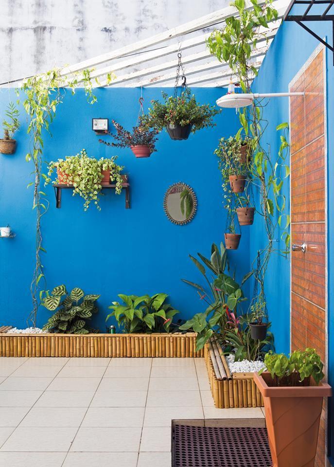 Pared azul deco pinterest pared azul azul y jard n for Jardin azul canal 9