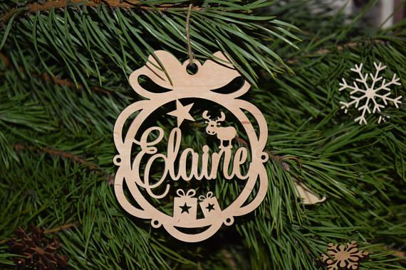 Personalised Christmas Name Bauble Tree Decorations Personalised