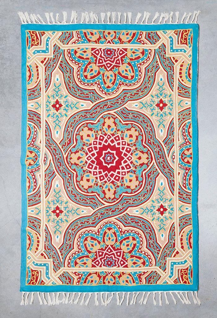 Mandala Rug 5x8 Area Turquoise For