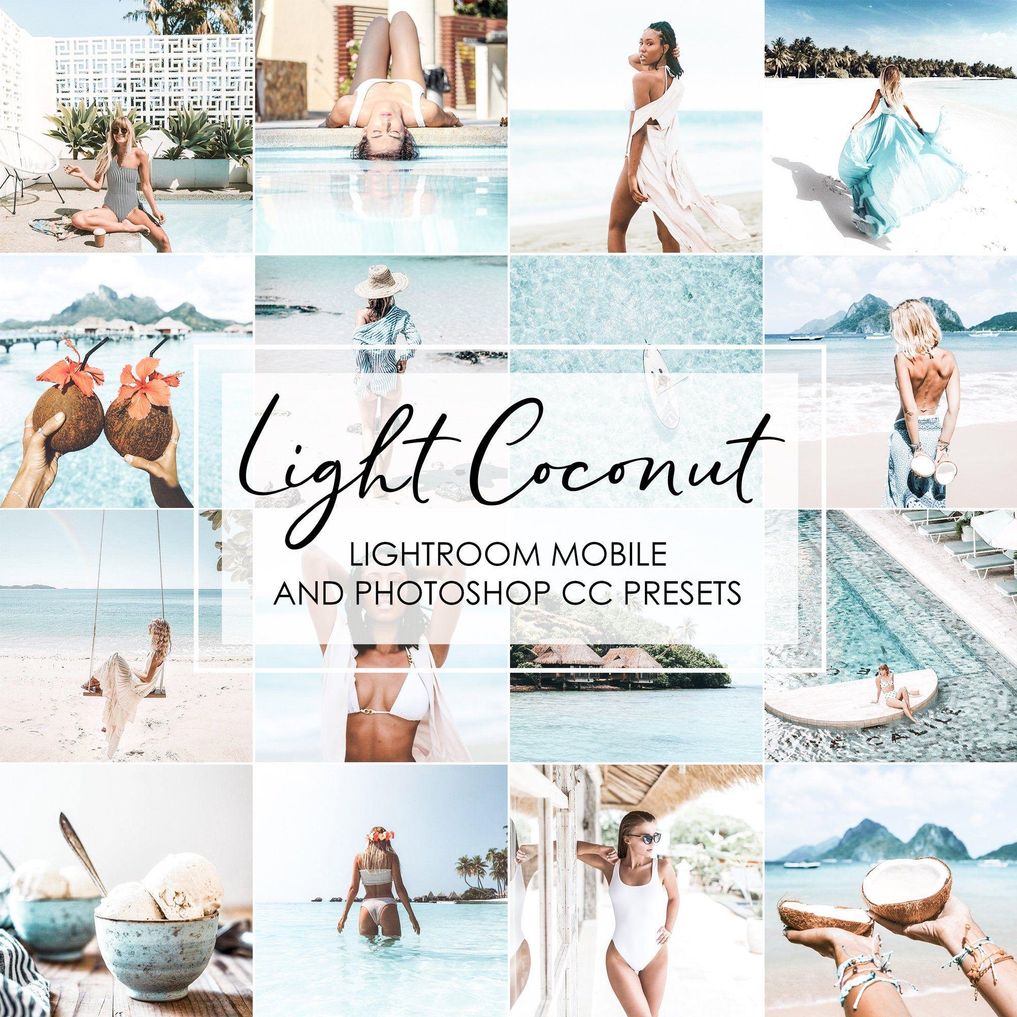 Lightroom Presets 16 Presets LIGHT COCONUT Bright Airy
