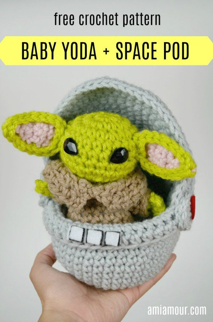 Space Pod for Yoda Amigurumi! - Free Pattern - Ami Amour