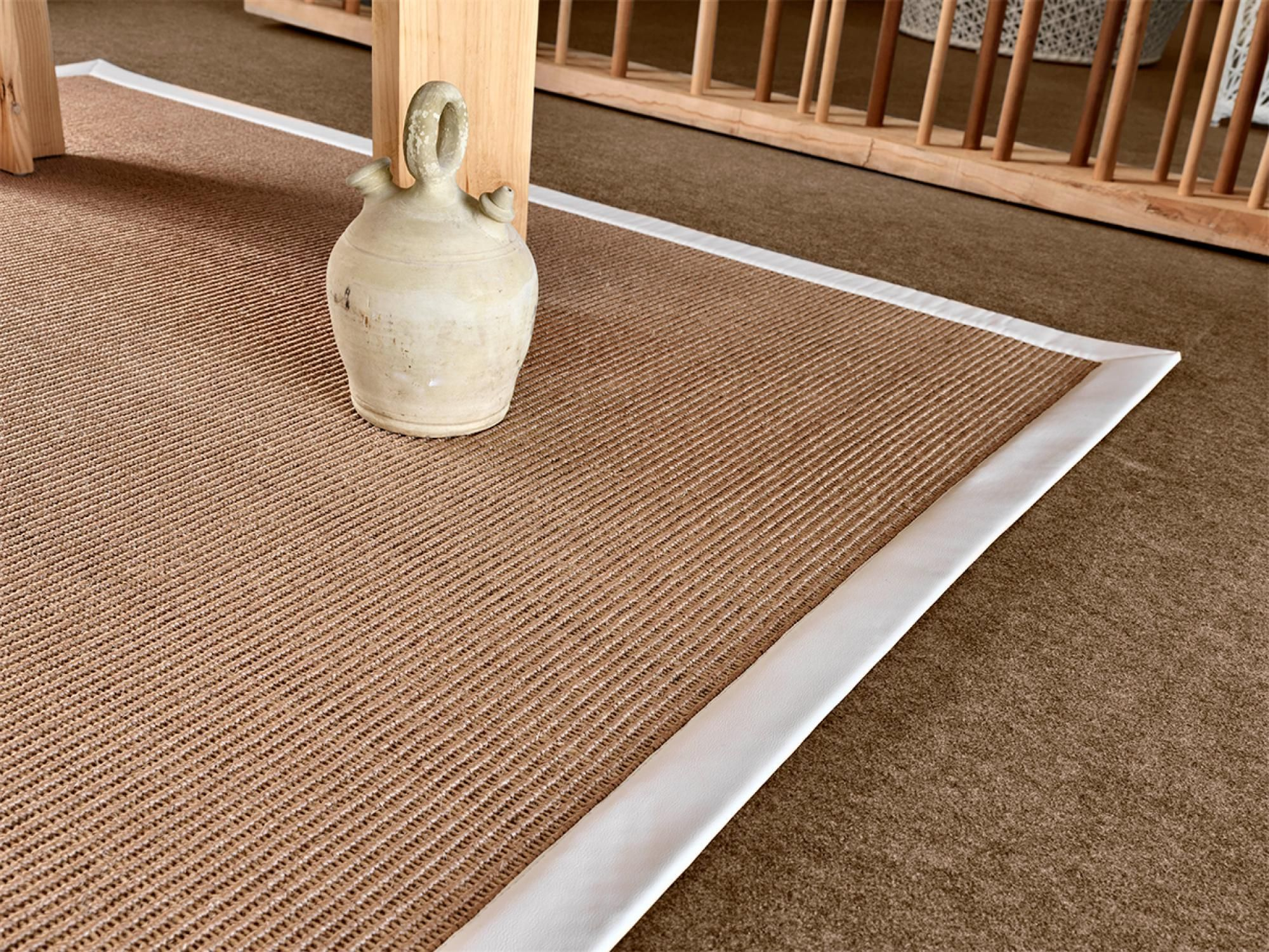 High quality sisal natural rug. Naturtex can customize this rug in both sizes and borders options. Also available as a wall to wall carpet.