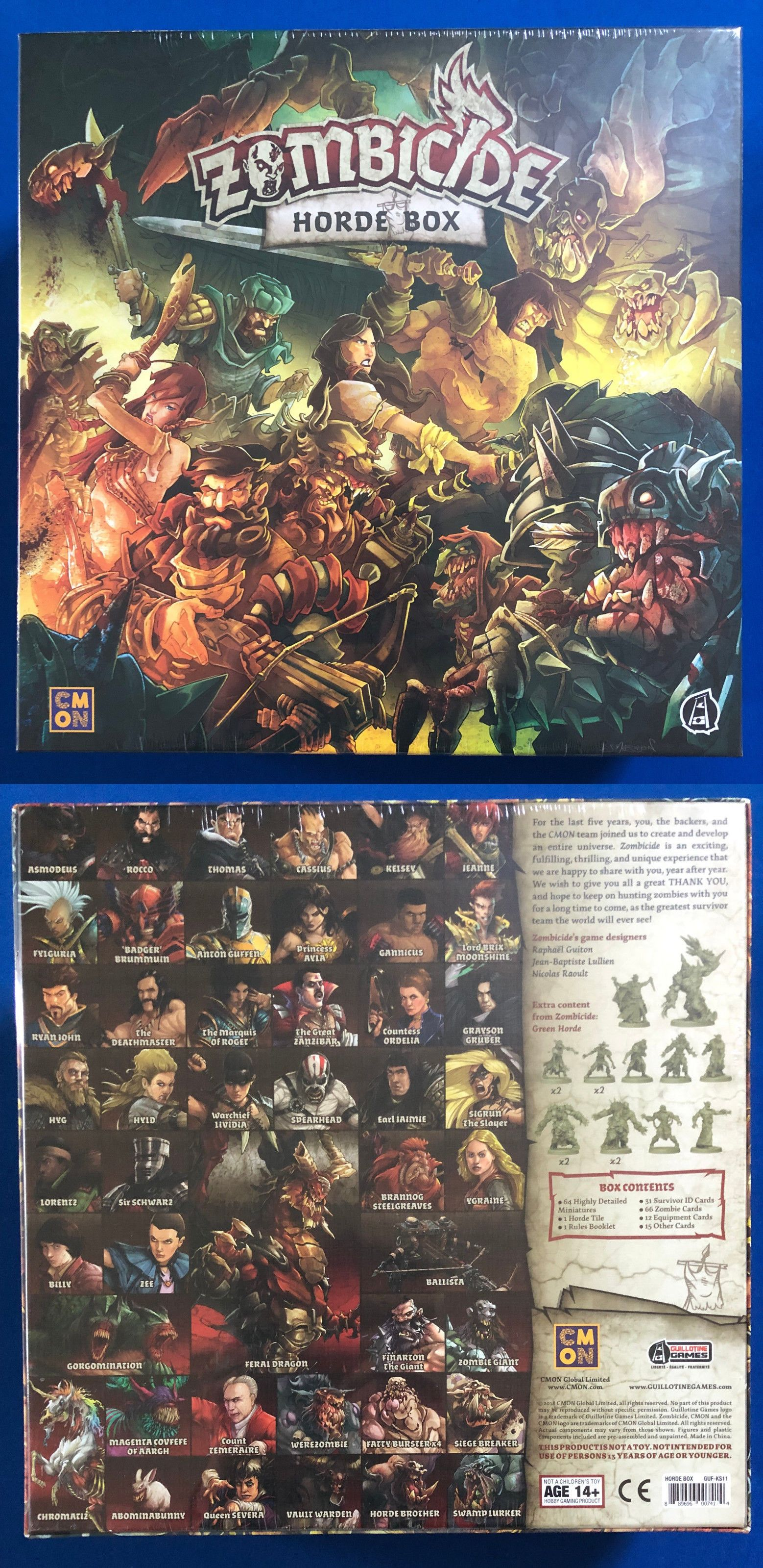 Contemporary Manufacture 180349 New In Shrink Zombicide Green