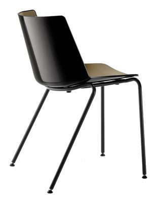 Chaise empilable Aïku / Pieds métal ronds - MDF Italia | Bureau ...