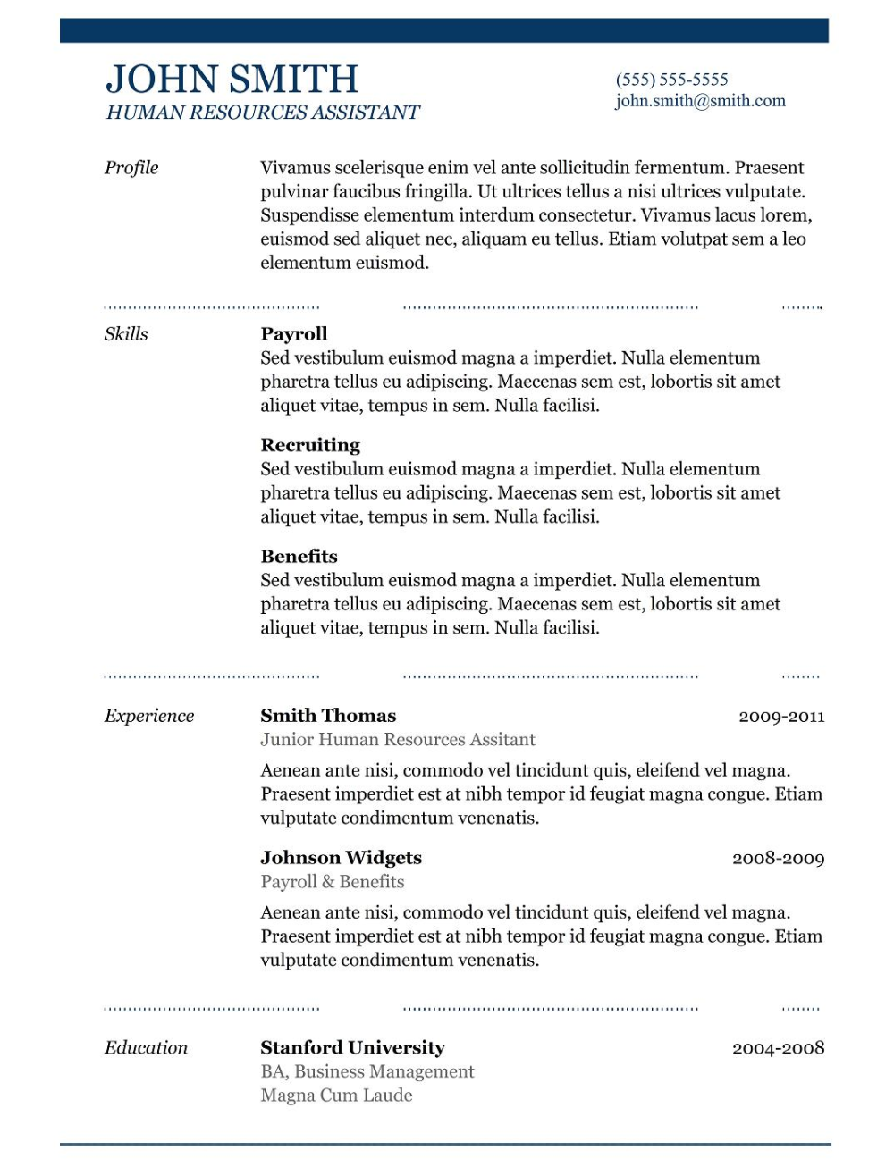Resume Templates Copy And Paste (9) TEMPLATES EXAMPLE