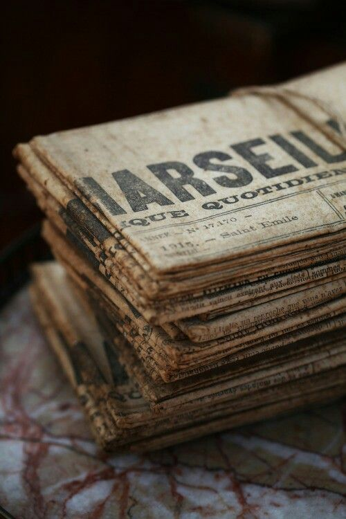 Old newspapers. Love the feed, paper color and fonts. #vintage #old #newspaper #rustic